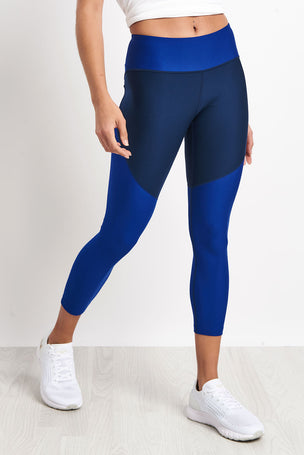 Under Armour TB Balance Cropped Leggings - Blue image 1 - The Sports Edit