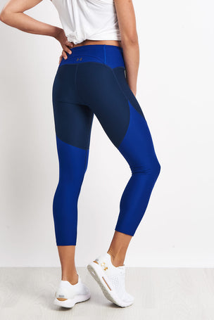 Under Armour TB Balance Cropped Leggings - Blue image 2 - The Sports Edit