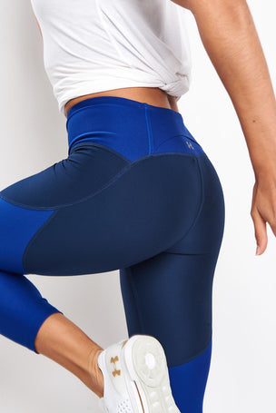 Under Armour TB Balance Cropped Leggings - Blue image 3 - The Sports Edit