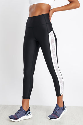 9c6b57846988f Under Armour HeatGear® Armour Ankle Crop Branded - Black/White image 1 - The