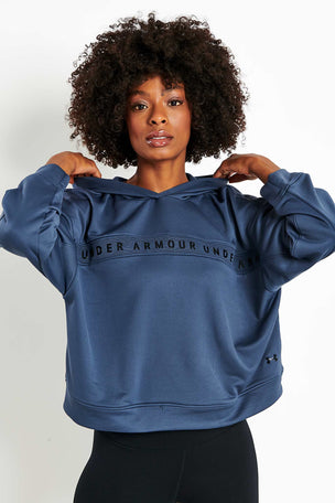 Under Armour Tech Terry Hoodie - Blue image 1 - The Sports Edit