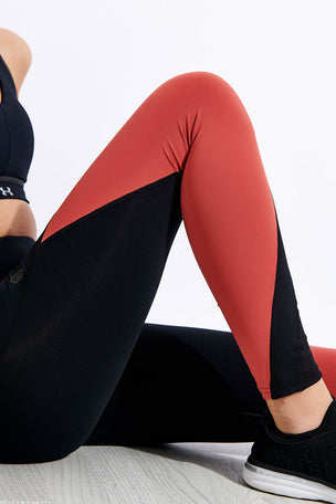 Under Armour Rush Leggings - Black/Pink image 4 - The Sports Edit