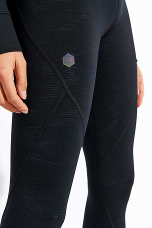 Under Armour Rush Leggings Metallic Print - Black image 4 - The Sports Edit
