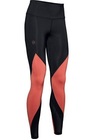 Under Armour Rush Leggings - Black/Pink image 6 - The Sports Edit