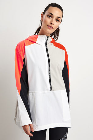Under Armour Unstopppable Woven Anorak - White/Radio Red image 5 - The Sports Edit