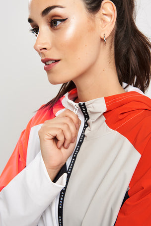 Under Armour Unstopppable Woven Anorak - White/Radio Red image 4 - The Sports Edit