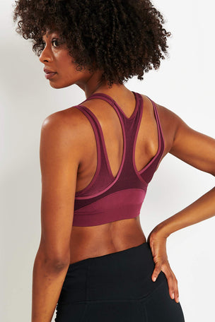 Under Armour Vanish Mid Sports Bra - Purple image 3 - The Sports Edit