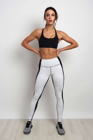 Under Armour Mirror High-Rise Printed Legging Black/White image 4 - The Sports Edit
