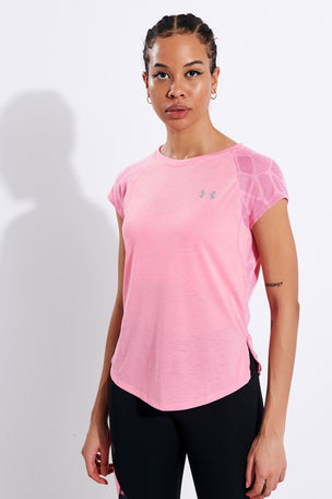 Under Armour Streaker 2.0 Shift Short Sleeve - Pink image 1 - The Sports Edit