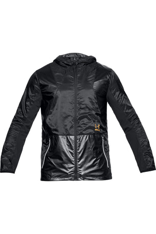 Under Armour Perpetual Full Zip Jacket - Black/Gold image 4 - The Sports Edit