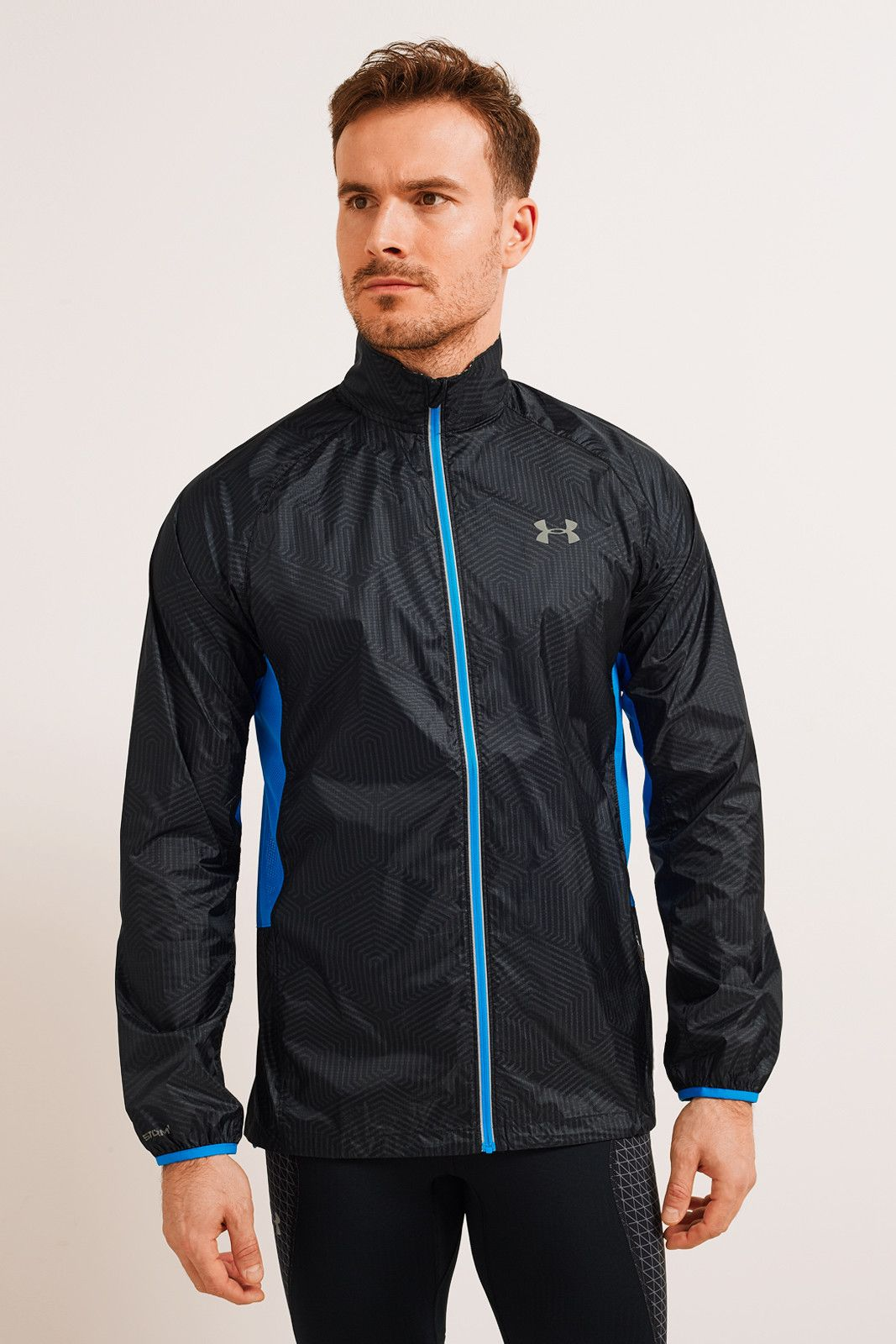 Under Armour UA ColdGear® Infrared Storm Packable Jacket Black image 1 - The Sports Edit