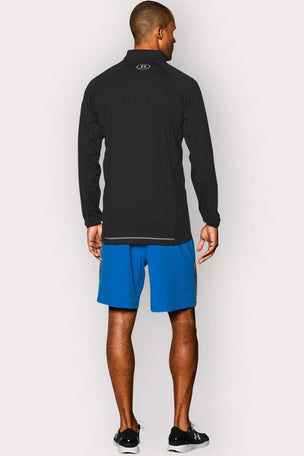 Under Armour UA Launch Zip-Up Long Sleeve Top - Black/Graphite image 3 - The Sports Edit