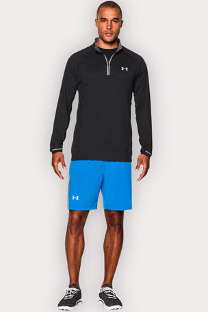 Under Armour UA Launch Zip-Up Long Sleeve Top - Black/Graphite image 4 - The Sports Edit