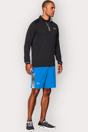 Under Armour UA Launch Zip-Up Long Sleeve Top - Black/Graphite image 2 - The Sports Edit