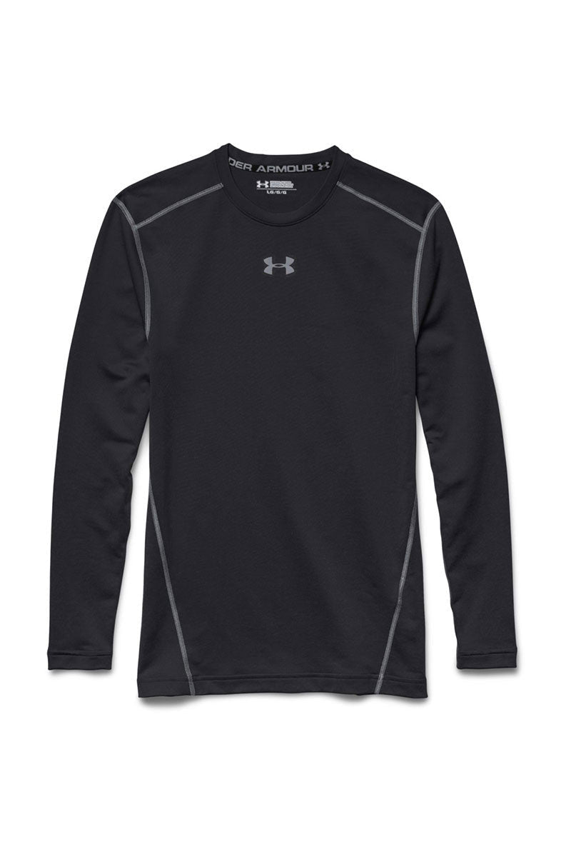 Under Armour UA ColdGear® Armour Compression Crew Black image 5 - The Sports Edit