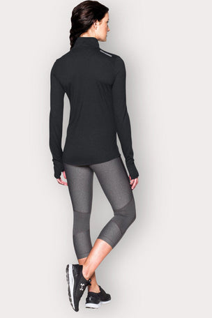 Under Armour Streaker 1/2 Zip - Black image 2 - The Sports Edit