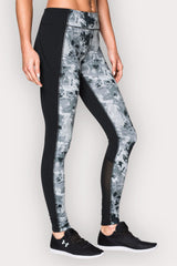 Under Armour UA Mirror Printed Legging - Black/Silver Camo image 2