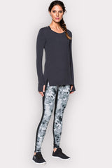 Under Armour UA Mirror Printed Legging - Black/Silver Camo image 5