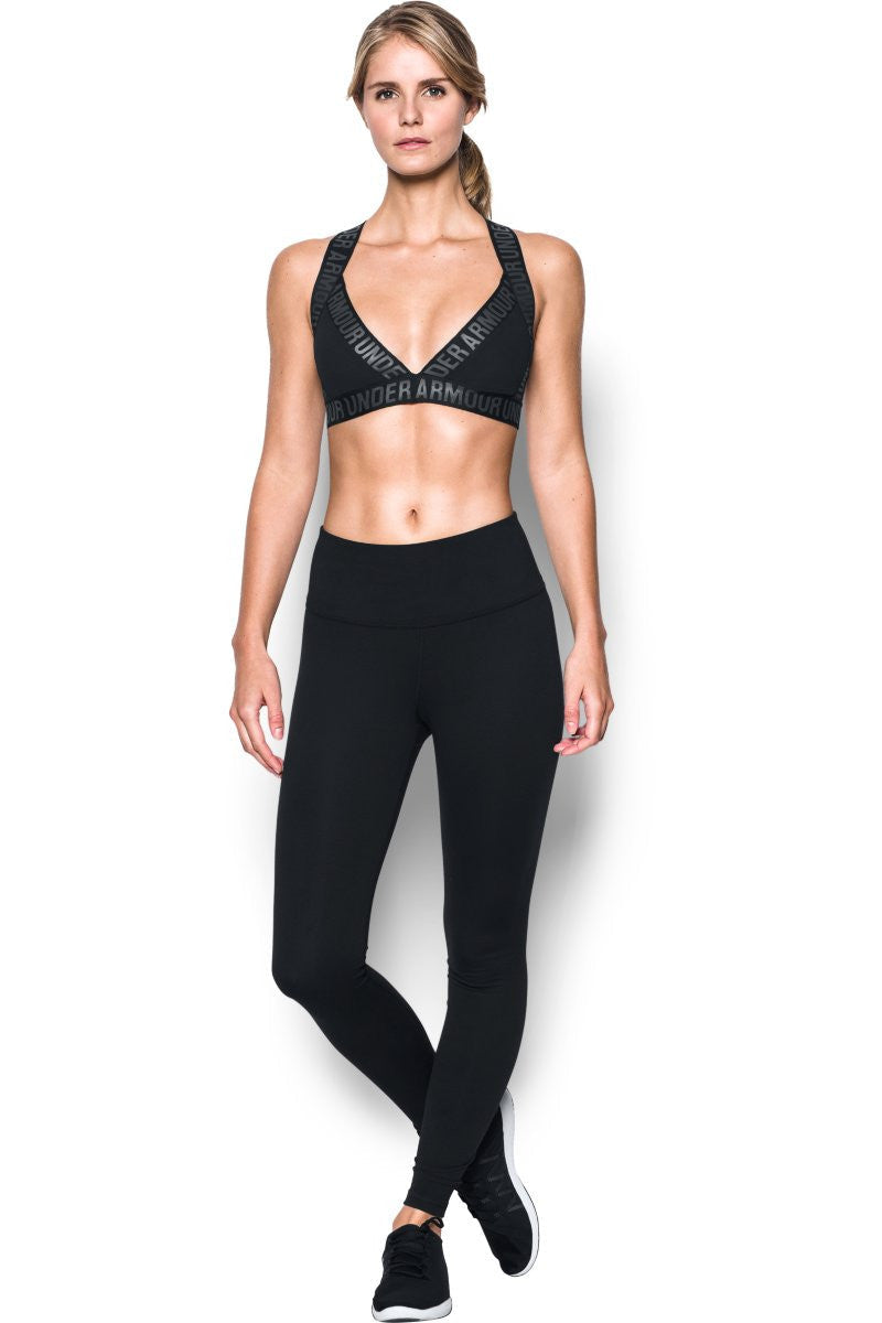 Under Armour Opening Night Strappy Bra Black image 4 - The Sports Edit