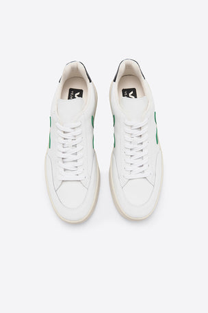 Veja V-12 Leather - White Emeraude Black image 2 - The Sports Edit