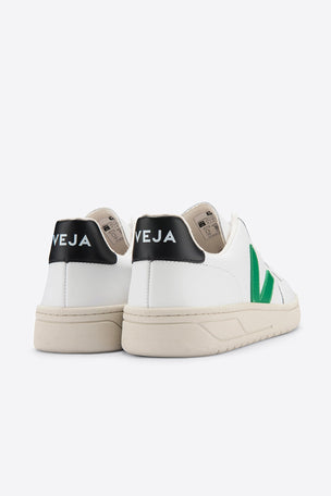 Veja V-12 Leather - White Emeraude Black image 3 - The Sports Edit