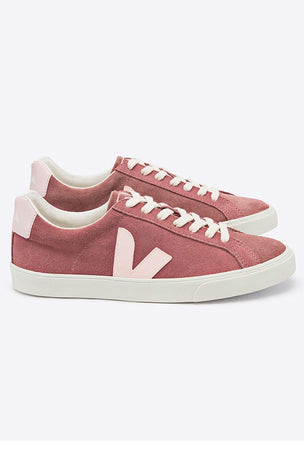 Veja Esplar Low Logo Suede - Petal Petale | Women's image 2 - The Sports Edit
