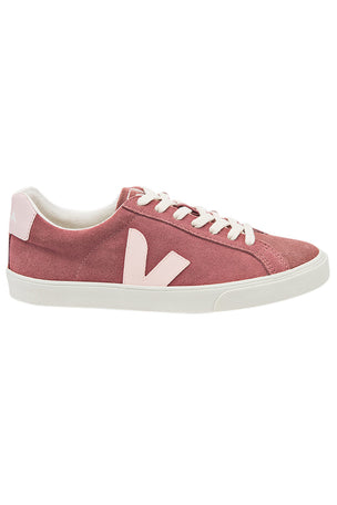 Veja Esplar Low Logo Suede - Petal Petale | Women's image 1 - The Sports Edit