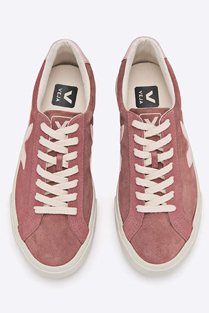 Veja Esplar Low Logo Suede - Petal Petale | Women's image 4 - The Sports Edit