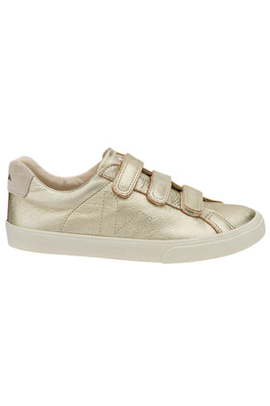 Veja Esplar Leather 3 Locks Gold - Women's image 1 - The Sports Edit