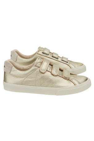 Veja Esplar Leather 3 Locks Gold - Women's image 2 - The Sports Edit