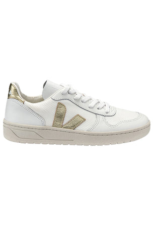 Veja V-10 White Gold - Women's image 1 - The Sports Edit