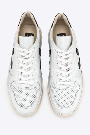 Veja V-10 Leather Extra White Black - Women's image 3 - The Sports Edit