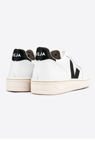 Veja V-10 Leather Extra White Black - Women's image 4 - The Sports Edit