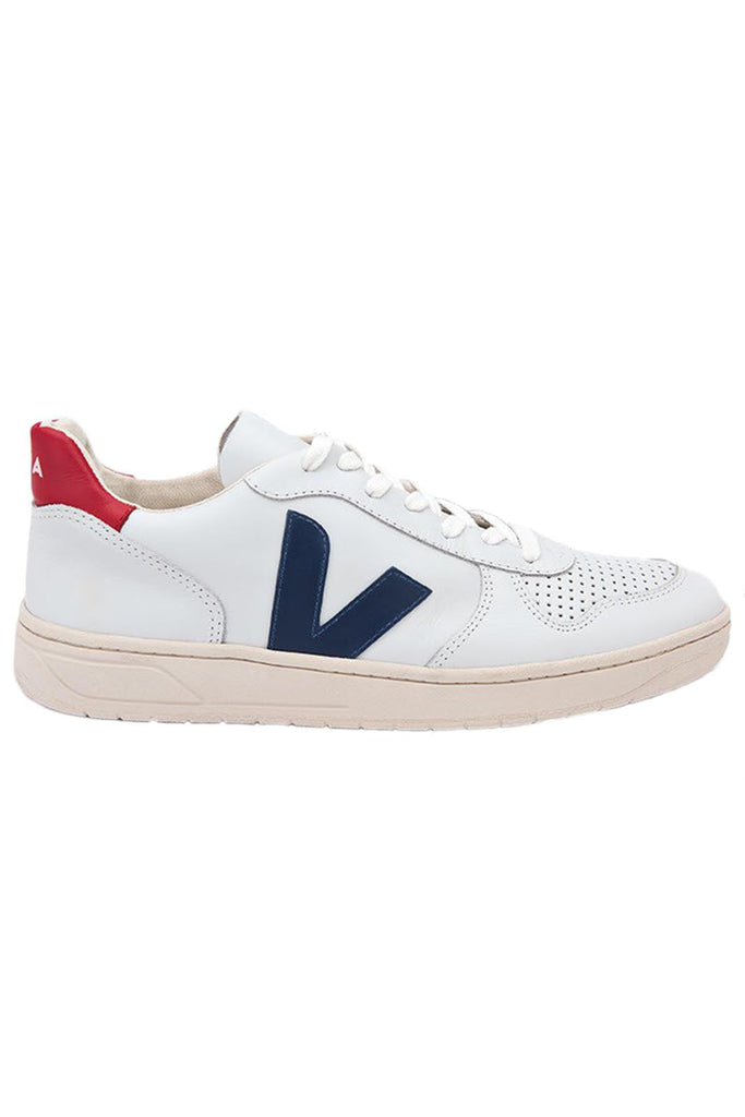 Oficial Preciso fiabilidad  Veja | V-10 White Nautico Pekin Trainers – The Sports Edit