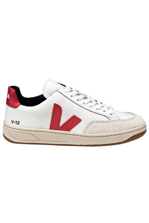 Veja V-12 B Mesh Trainer White Nautico - Women's image 1 - The Sports Edit