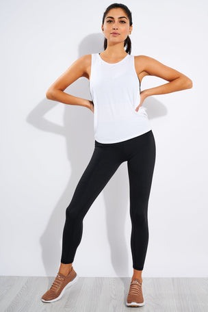 Varley Buckley Crop Top  White image 2 - The Sports Edit