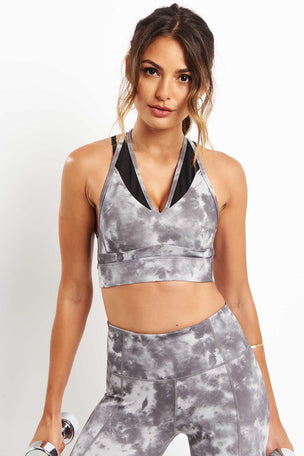 Varley Chancery Bra - Silver Tie Dye image 1 - The Sports Edit