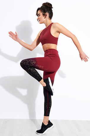 Varley Dover Legging - Zinfandel image 3 - The Sports Edit