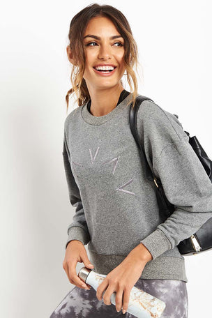 Varley Holborn Sweat - Grey image 1 - The Sports Edit