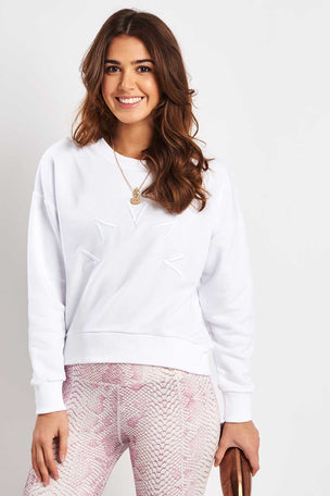 Varley Holborn Sweat - White image 1 - The Sports Edit