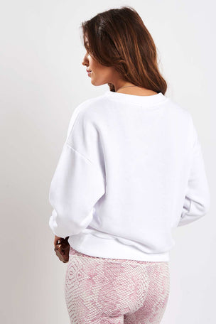Varley Holborn Sweat - White image 2 - The Sports Edit