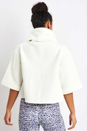 Varley Milwood Sweat - White image 2 - The Sports Edit