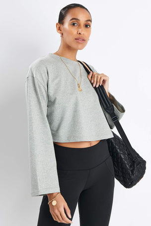 Varley Milldale Sweater - Heather Grey image 2 - The Sports Edit