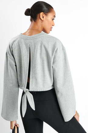 best service 236bb 70391 Varley Milldale Sweater - Heather Grey image 1 - The Sports Edit