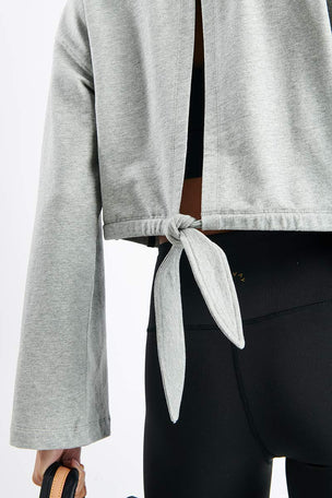 Varley Milldale Sweater - Heather Grey image 3 - The Sports Edit