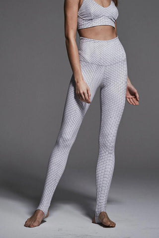 Varley Oak Stirrup Tight White Snake image 1 - The Sports Edit