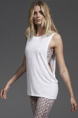 Varley Lakeview Tee - White image 2 - The Sports Edit