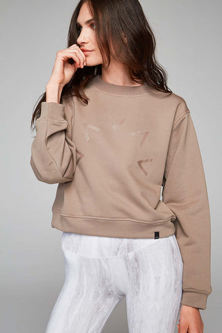 Varley Albata Sweat - Taupe image 1 - The Sports Edit