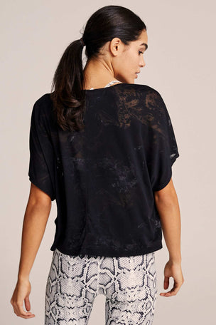 Varley Almo Burnout Tee  - Sheer Black image 3 - The Sports Edit