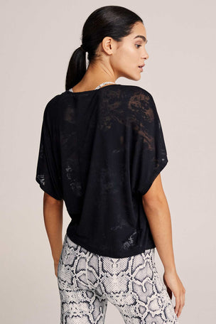 Varley Almo Burnout Tee  - Sheer Black image 4 - The Sports Edit
